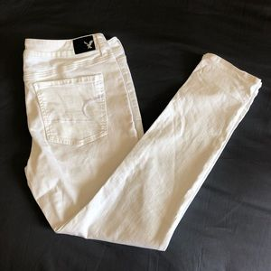White AMERICAN EAGLE OUTFITTERS Jeggings